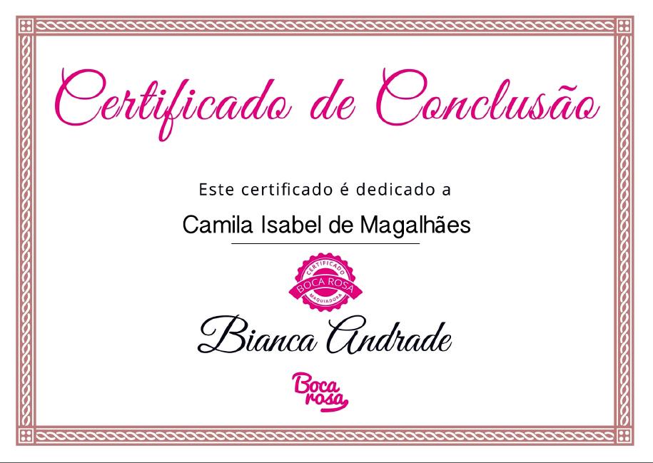 Certificado Curso de Maquiagem Boca Rosa